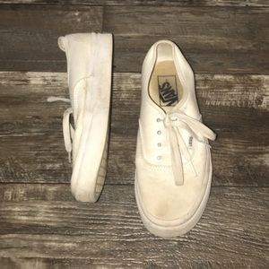 Vans - white lace up
